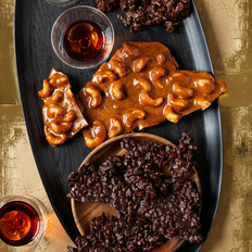 Food & Wine: Spiced Cashew Brittle and Chocolate Crunch Bark