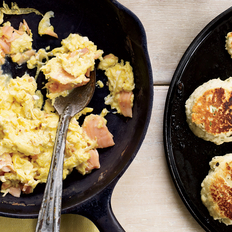Food & Wine: Smoked-Salmon Scramble with Dill Griddle Biscuits