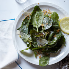 Food & Wine: Spinach Salad with Bagna Cauda Dressing