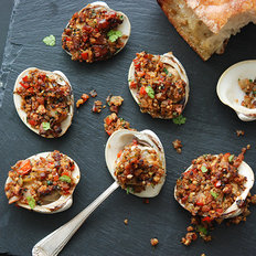 Food & Wine: Spanish-Style Baked Stuffed Clams