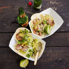 Food & Wine: Shrimp Tacos with Tomatillo Salsa