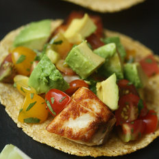 Food & Wine: Striped Bass Fish Tacos with Heirloom Tomato Salsa and Avocado