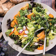 Food & Wine: Butter Lettuce Salad with Persimmons and Radishes