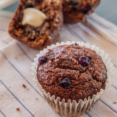 Food & Wine: Blueberry Flax Seed Muffins