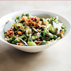Food & Wine: Farro and Green Olive Salad with Walnuts and Raisins