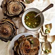 Food & Wine: Artichokes with Scallion Vinaigrette