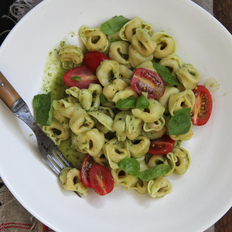 Food & Wine: Tortellini with Pesto and Cherry Tomatoes