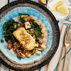 Food & Wine: Pan-Seared Halibut with Braised Swiss Chard