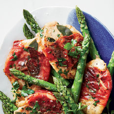 Food & Wine: Chicken Saltimbocca with Asparagus