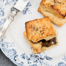 Food & Wine: Black Pepper Biscuits with Bourbon-Molasses Butter