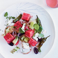 Food & Wine: Watermelon, Feta and Charred Pepper Salad