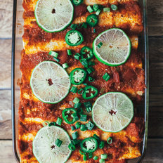 mkgalleryamp; Wine: Bean and Potato Vegan Enchiladas