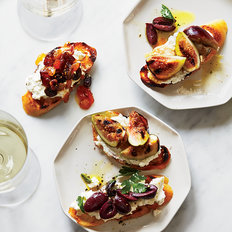 Food & Wine: Ricotta Crostini with Three Toppings