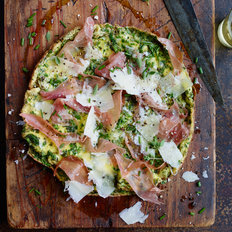 Food & Wine: Five-Herb Frittata with Prosciutto and Parmesan