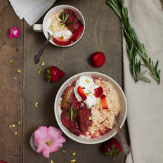 Food & Wine: Rhubarb and Rosemary Overnight Oats