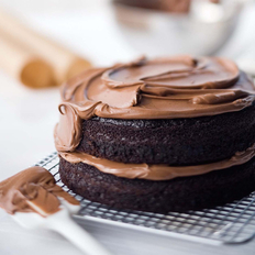 Food & Wine: Double-Chocolate Layer Cake