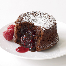 Food & Wine: Molten Chocolate Cake with Raspberry Filling
