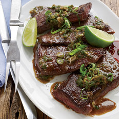 Food & Wine: Pan-Seared Skirt Steak with Anchovies and Lime