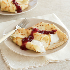 Food & Wine: Crêpes with Sweet Yogurt and Raspberry-Apricot Sauce