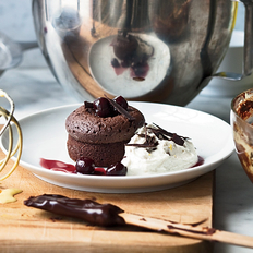 Food & Wine: Warm Chocolate Cakes with Mascarpone Cream
