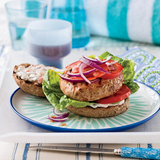 Food & Wine: Turkey Burgers with Spicy Pickle Sauce