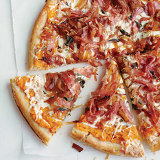 Food & Wine: Sweet Potato, Balsamic Onion and Soppressata Pizza