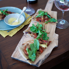 Food & Wine: Tuna-and-Tomato Pizza with Aioli
