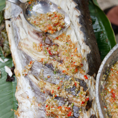 Food & Wine: Fish Grilled in Banana Leaves with Chile-Lime Sauce