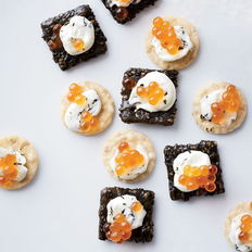Food & Wine: 7-Minute Salmon Caviar Sushi Bites