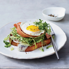 Food & Wine: Brioche with Prosciutto, Gruyère and Egg