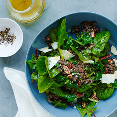 Food & Wine: Lentil Salad with Spinach, Pecans, and Cheddar