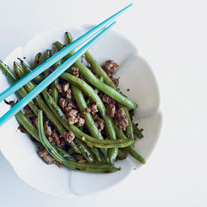 Food & Wine: Chinese Long Beans with Minced Pork and Ginger
