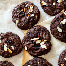 Food & Wine: Chocolate-Cherry Almond Butter Cookies