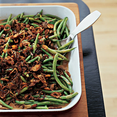 Food & Wine: Green Beans with Cremini Mushroom Sauce