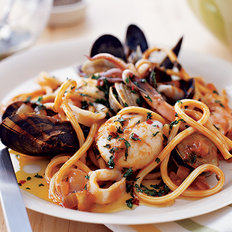 Food & Wine: Seafood Pasta with Tuscan Hot Oil