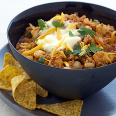 Food & Wine: Turkey Chili Soup with Hominy