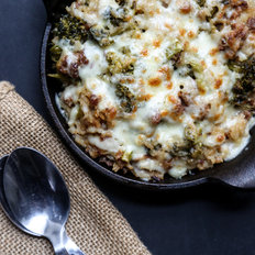 Food & Wine: Cheesy Broccoli and Rice Casserole with Sausage