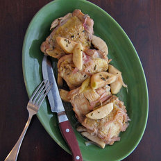Food & Wine: Cider-Braised Chicken Thighs with Apple