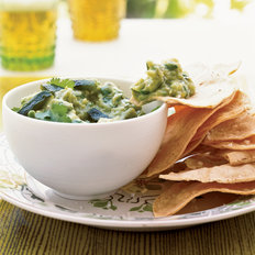 Food & Wine: Tomatillo-Poblano Guacamole