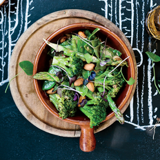 Food & Wine: Green Vegetables with Dukka and Tahini Dressing