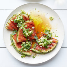 Food & Wine: Grilled Watermelon with Avocado, Cucumber and Jalapeño Salsa