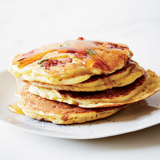 Food & Wine: Country Ham Flapjacks with Maple Syrup