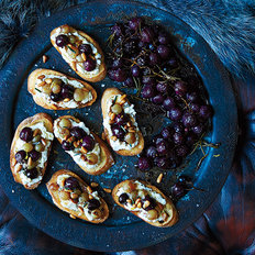 Food & Wine: Ricotta and Roasted Grape Crostini