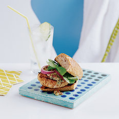 Food & Wine: Turkey Burgers with Pesto Mayonnaise