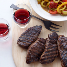 Food & Wine: Lamb Steaks with Peppers and Cumin