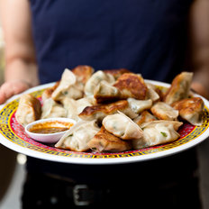 Food & Wine: Mama Chang's Pork and Chive Dumplings with Black Pepper-Scallion Sauce
