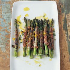 Food & Wine: Pancetta-Wrapped Asparagus with Citronette