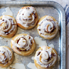 Food & Wine: Glazed Cinnamon Rolls with Pecan Swirls