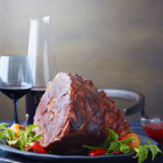 Food & Wine: Smoky Glazed Ham with Red Pepper Jelly
