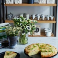 Food & Wine: Potato-Scallion Frittata with Manchego Cheese